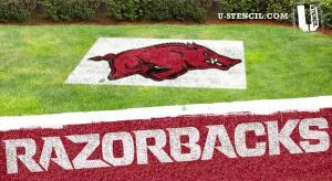 "Arkansas ""RAZORBACKS"" Lawn Stencil kit"