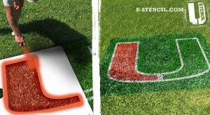 "University of Miami ""U"" lawn stencil kit"