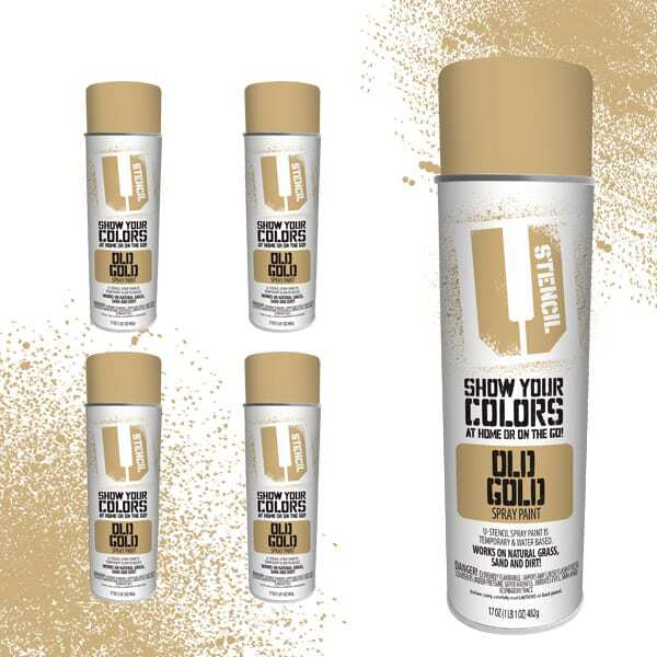 Spray Paint Old Gold 4-Pack