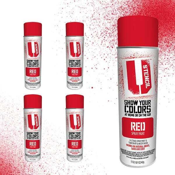 Spray Paint Red 4-Pack