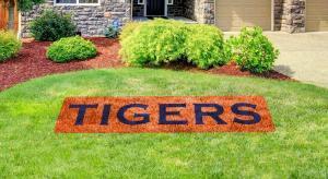 """Auburn """"TIGERS"""" lawn stencil"""