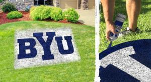 """Brigham Young """"BYU"""" lawn stencil kit"""