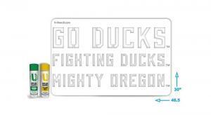 """Oregon """"GO DUCKS"""" stencil"""