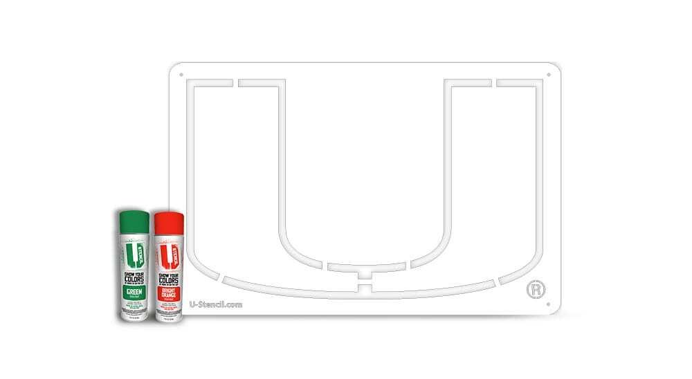 """Miami """"U"""" – Tailgater Stencil Kit"""