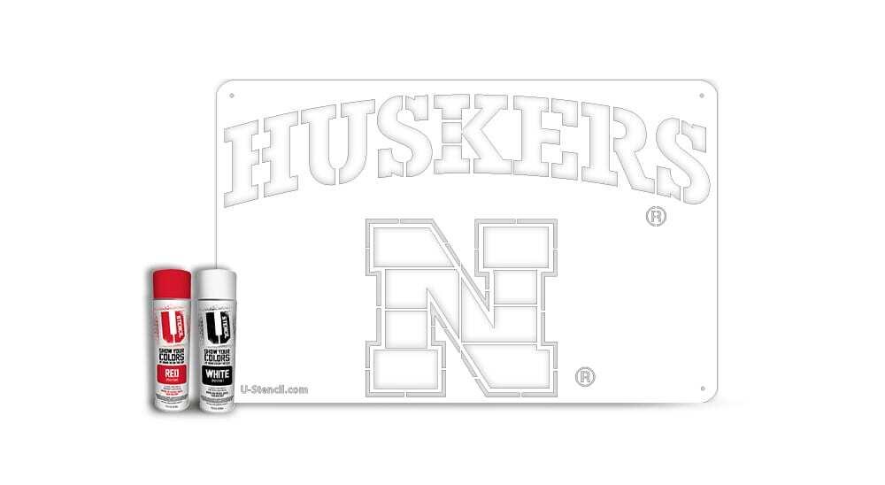 """Nebraska """"HUSKERS"""" – Tailgater Stencil Kit"""