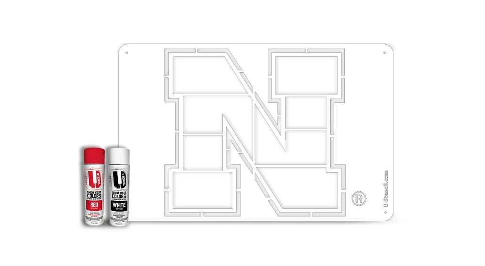 """Nebraska """"N"""" – Tailgater Stencil Kit"""
