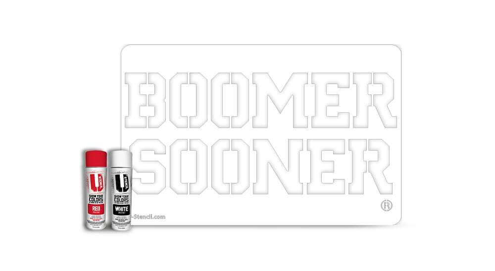 "Oklahoma ""Boomer Sooner"" – Tailgater Stencil Kit"