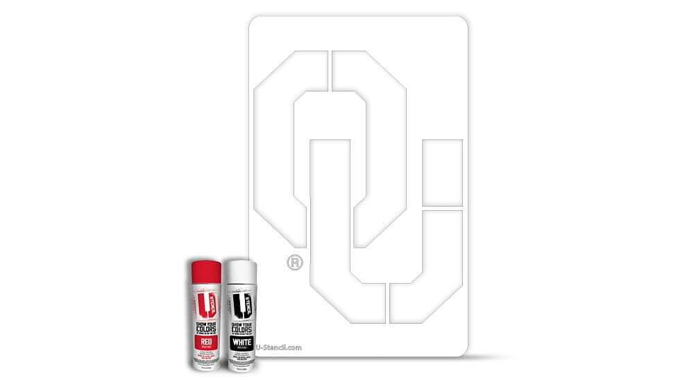"Oklahoma ""OU"" – Tailgater Stencil Kit"
