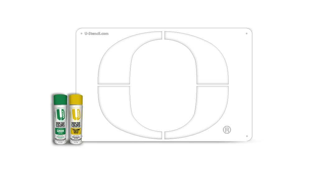 "Oregon ""O"" – Tailgater Stencil Kit"
