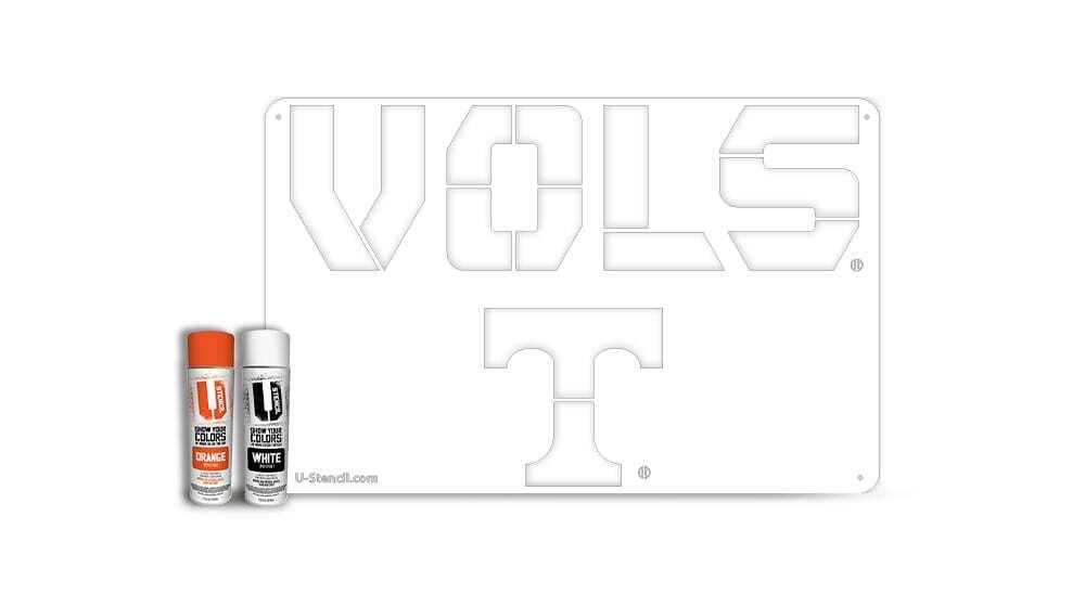 """Tennessee """"VOLS"""" – Tailgater Stencil Kit"""