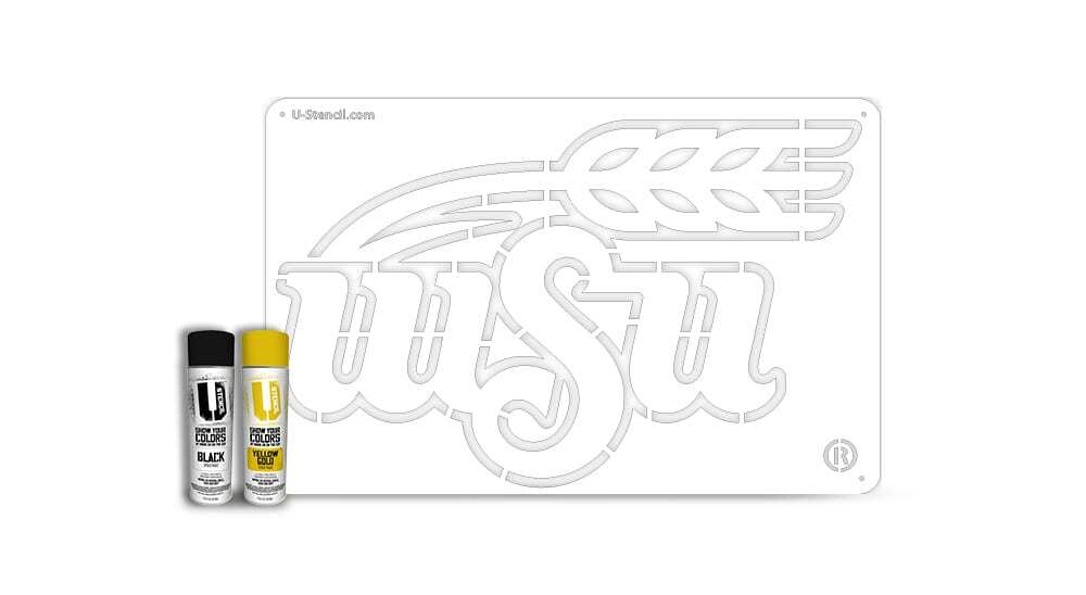 "Wichita State University ""WSU"" – Tailgater Stencil Kit"