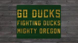 Oregon GO DUCKS Stencil