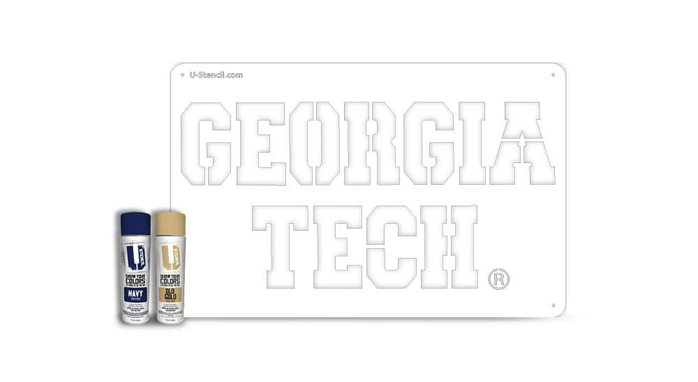 """Georgia Tech"" – Tailgater Stencil Kit"