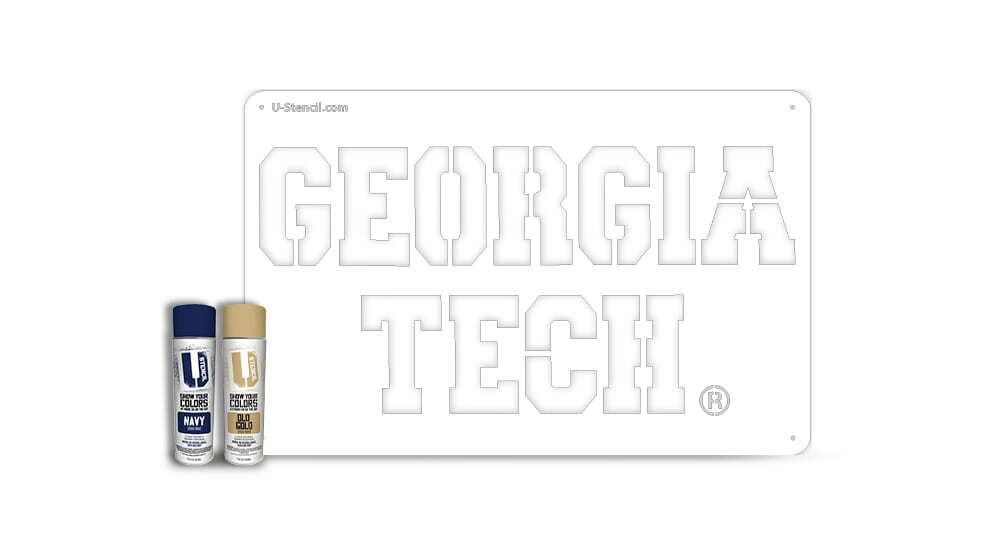 """Georgia Tech"" – Tailgater Stencil Kit"
