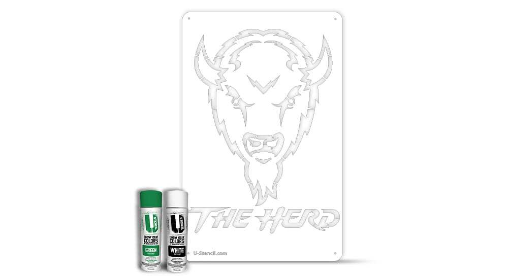 "Marshall ""The Herd"" – Tailgater Stencil Kit"