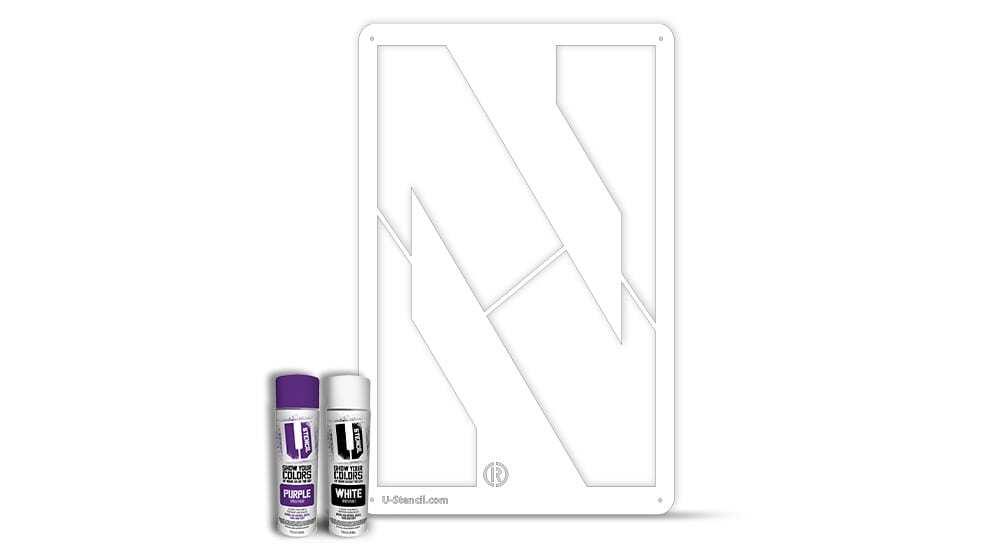 """Northwestern """"N"""" – Tailgater Stencil Kit"""