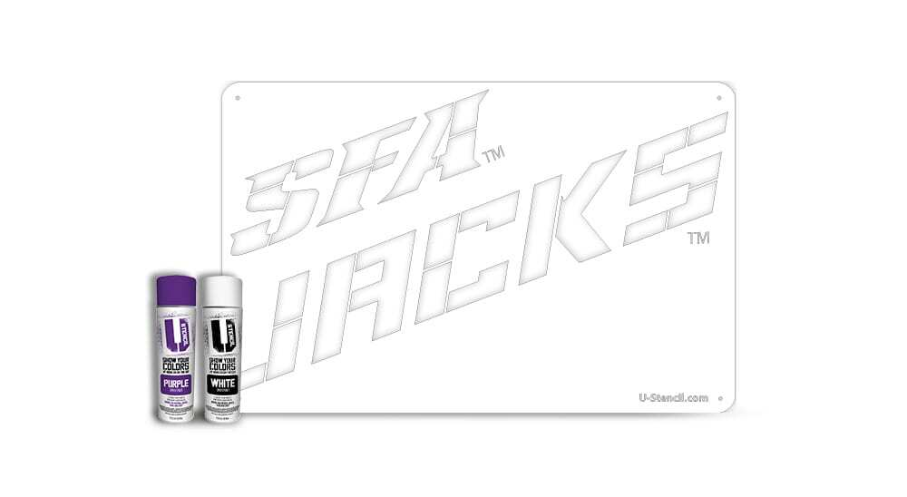 "Stephen F. Austin ""JACKS"" – Tailgater Stencil Kit"