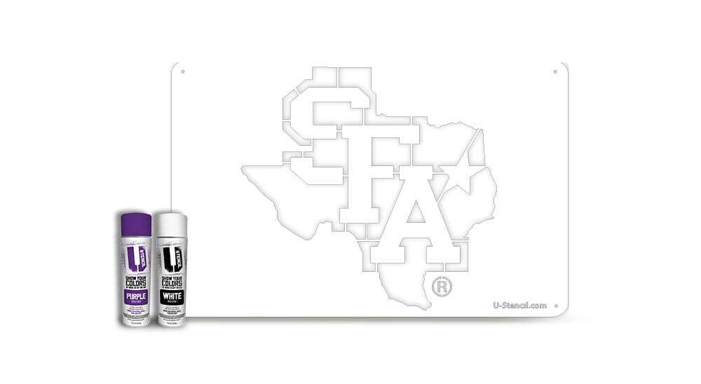 """Stephen F. Austin """"SFA"""" Texas – Tailgater Stencil Kit"""