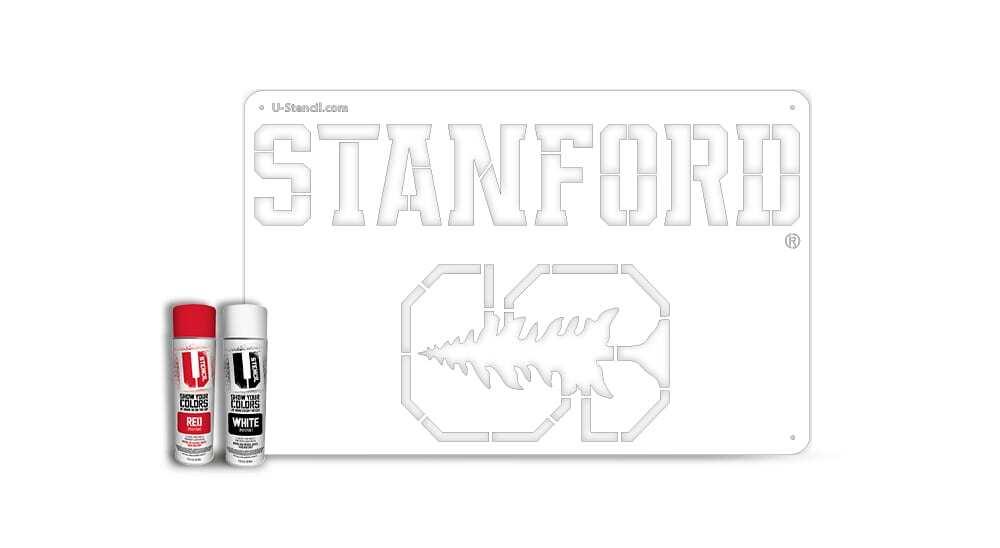 "Stanford ""STANFORD"" – Tailgater Stencil Kit"