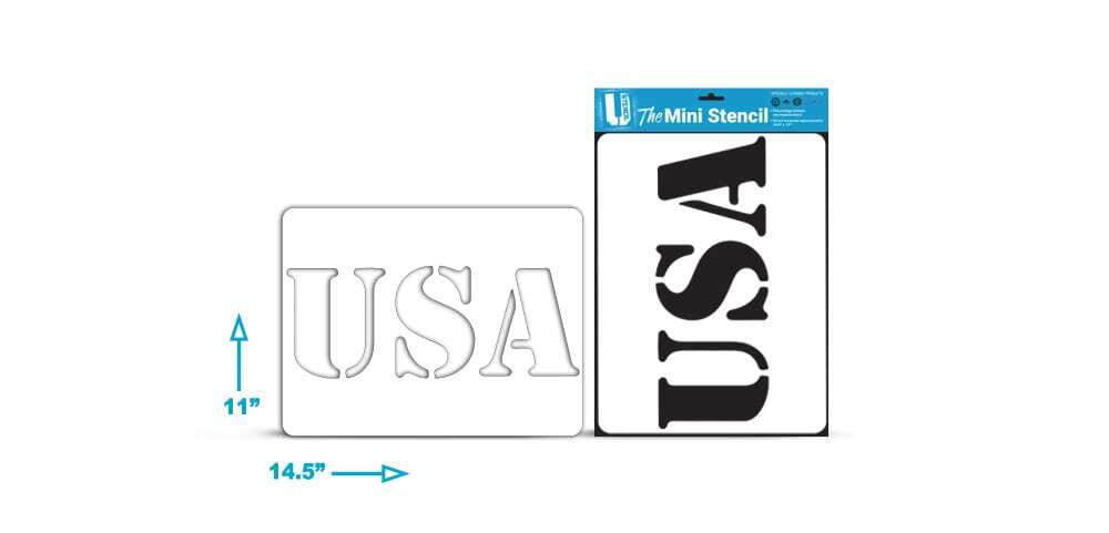 "4th of July ""USA"" – Mini Stencil"