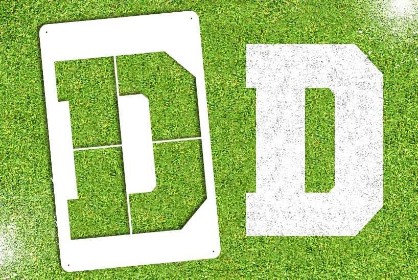 """Letter """"D"""" Stencil"""