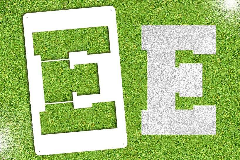 """Letter """"E"""" Stencil"""