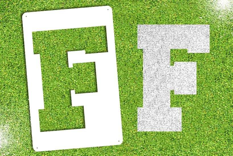 """Letter """"F"""" Stencil"""