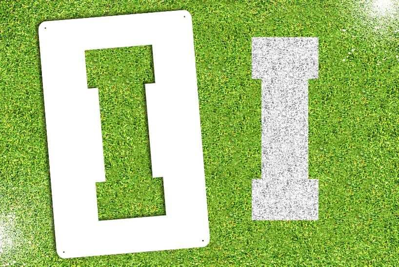 """Letter """"I"""" Stencil"""