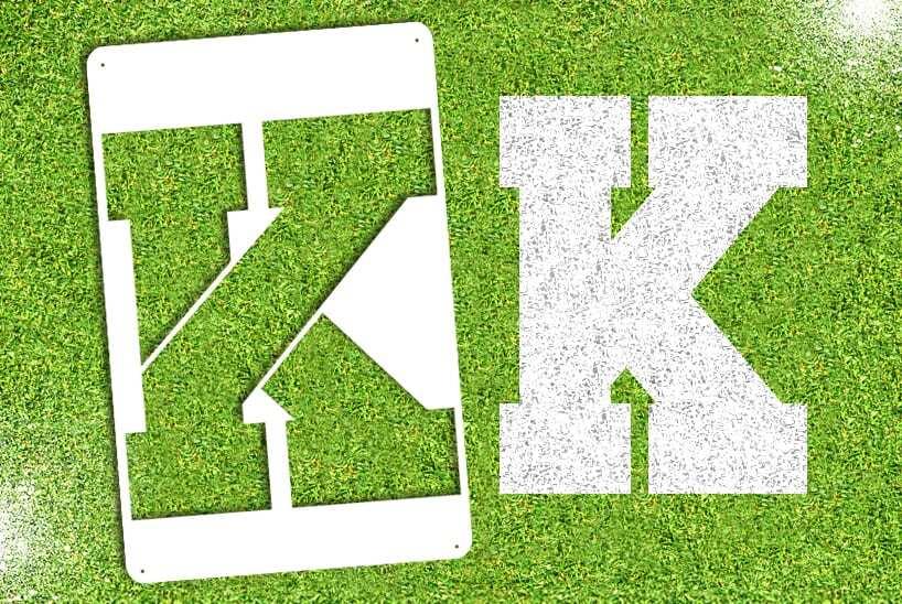 "Letter ""K"" Stencil"