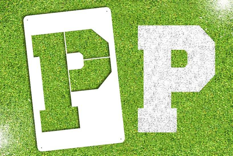 """Letter """"P"""" Stencil"""