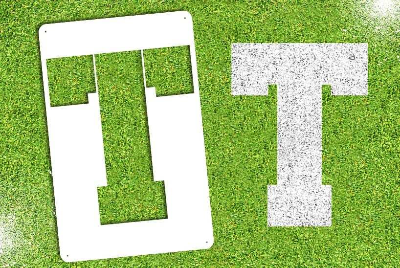 """Letter """"T"""" Stencil"""