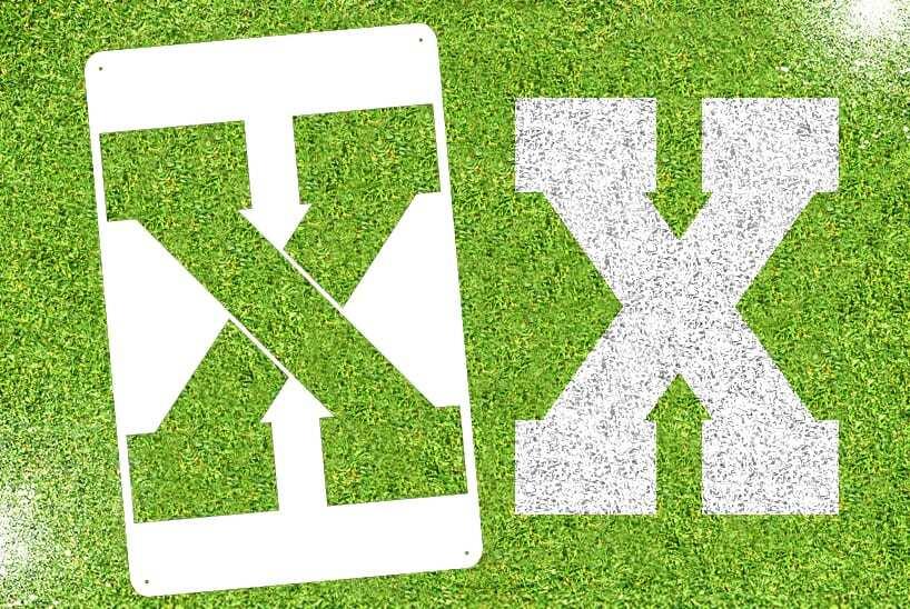 """Letter """"X"""" Stencil"""