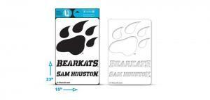 "Sam Houston Paw ""Bearcats"" ""Houston"" stencil"