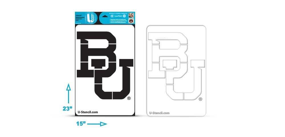 """Baylor """"BU"""""""" – Multi-Purpose Stencil"""