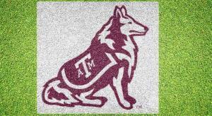 Texas A&M Reveille - Lawn Stencil Kit