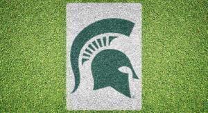 Michigan State Spartan Helmet - Lawn Stencil Kit