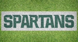 "Michigan State ""SPARTANS"" Stencil - Lawn Stencil Kit"