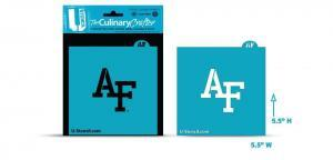 """Air Force Academy """"AF"""" officially licensed college logo stencil"""