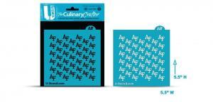 """Air Force Academy """"AF"""" patternofficially licensed college logo stencil"""