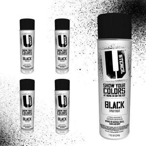 Spray Paint Black 4 pack