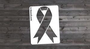 Awareness Ribbon, Mini - Stencil Only
