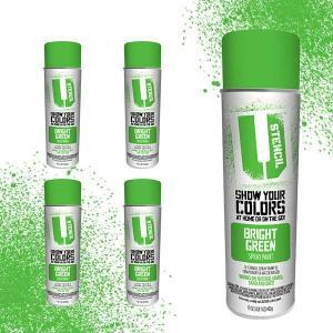 Spray Paint Bright Green 4 pack