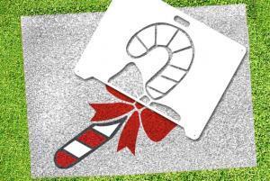 Candy Cane Stencil - Lawn Stencil Kit