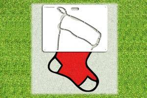 Christmas Stocking Stencil - Lawn Stencil Kit