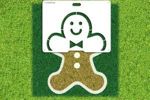 Gingerbread Man Stencil Kit - Lawn Stencil Kit