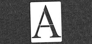 Greek Alphabet - Alpha - Mini Stencil