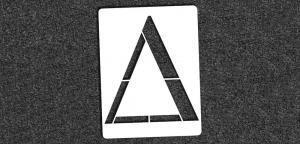 Greek Alphabet - Delta - Mini Stencil