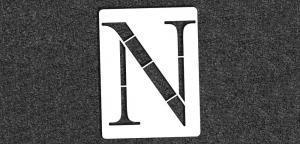 Greek Alphabet - Nu - Mini Stencil