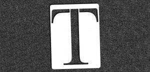 Greek Alphabet - Tau - Mini Stencil