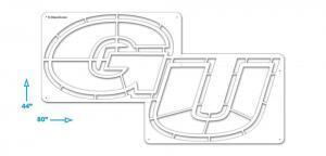 Gonzaga GU Stencil